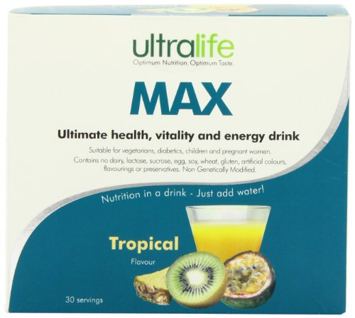 Ultralife Max 8 g Tropical Energy Drink Powder Sachets - Box of 30
