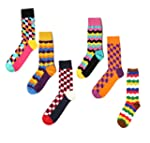 Men's Funky Socks 6 Pack Colorful Soc...
