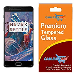 Cables Kart OnePlus 3 Tempered Glass High Quality Screen Protector - 1+3 / OnePlus Three