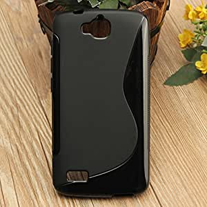 Huawei Y6 Pro Case, Ziaon S line Slim Fit Protective Back Cover Case for Huawei Y6 Pro - Black