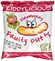 Kiddylicious Strawberry Fruity Puffs 10 g (Pack of 6) by Kiddylicious