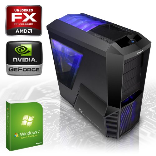 KCS gaming [184119] Gamer-PC AMD FX-8350 8x 4,0GHz (Turbo bis 4,2GHz, Piledriver-Kern) | 8GB DDR3-1600 im Dual-Channel | 2000 GB SATA3 (6gb/s) Festplatte | nVidia GeForce GTX 680 2048 MB GDDR5 (DirectX11.1+3DVision) | ASUS M5A97 2.0 | 22xDVD-RW | 6-Kanal-Sound | GigabitLAN | 630W Thermaltake Netzteil | Modding Gehäuse | Microsoft Windows 7 Home Premium 64-Bit