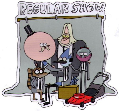 Regular Show Group Photo Car Magnet RMB496 - 1