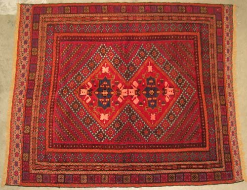 "Hand-woven Mushwani Oriental Area Rug 5'11"" x 5'1"" #6.142"