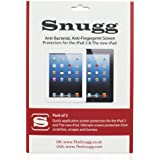 Snugg iPad Anti Fingerprint and Anti Bacterial Screen Protectors (pack of 2) - Includes Microfiber Cloth and Anti Bubble Leveller - Compatible with iPad 2, 3 & 4