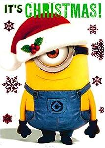 Despicable Me - Minion Phil - Christmas card - CH0060: Amazon.co.uk ...