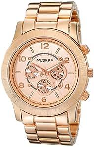 Akribos XXIV Women's AK583RG Ultimate Quartz Multi-Function Bracelet Watch