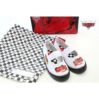 (ディズニー) Disney カーズ 靴 ライトニング・マックイーン ディズニー 上履き バレーシューズ 上靴 新入学 新学期 子供靴 カーズ cars ** 19cm ブラック