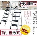 脚立 おしゃれ 折り畳み式脚立XB-5段式、脚立、はしご、踏み台、作業台、ホームステップ、ふみだい 梯子 きゃたつ 洗車台 大掃除 5段脚立