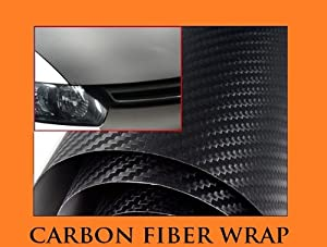 "2011-2012 NISSAN SENTRA BLACK Carbon Fiber Hood Dash Mirror Roof Wrap Sheet Vinyl Decal 60"" x 180"" 11 12"