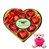 Valentine Chocholik Premium Gifts - Adorable Chocolate Box With Teddy