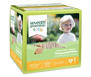 Seventh Generation Free and Clear Baby Diapers, Stage 5