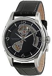 Hamilton Men's HML-H32565735 Jazzmaster Open Heart Analog Display Swiss Automatic Black Watch