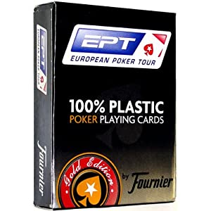 Fournier EPT Poker Size Jumbo Index Playing Cards (Red)