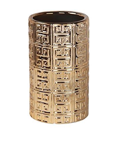 Privilege Small Ceramic Vase, Metallic Gold