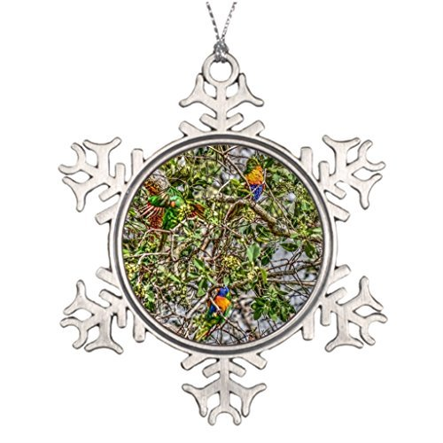 Lorikeet Christmas Snowflake Ornament