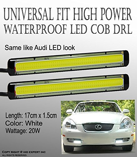 2pcs COB White 14cm LED car DRL Fog Lamp Daytime Running Lights good price & Cool (Kia Koup Fog Lights compare prices)
