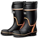 ミドリ安全 踏抜き防止板内装 先芯入り 安全長靴 766NP-4 ブラック/オレンジ 26.5cm