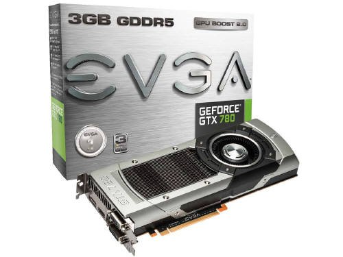 EVGA GeForce GTX780 3GB GDDR5 384bit, Dual-Link DVI-I, DVI-D, HDMI,DP, SLI Ready Graphics Card (03G-P4-2781-KR)