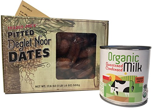 Trader Joes Pitted Deglet Noor Dates, Trader Joes Organic Condensed Milk, Date Ball Recipe - Holiday Baking Bundled Set (Trader Joes Condensed Milk compare prices)