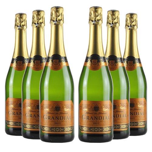Le Bon Vin Grandial Blanc de Blancs Sparkling Brut Wine 75 cl (Case of 6)