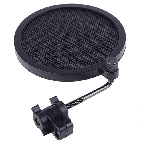 """Neewer® 360 Degree Adjustable Studio Microphone Wind Screen Pop Filter, 3""""Outer 2.8""""Inner Small Size front-501861"""