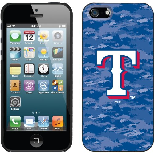 Great Sale Texas Rangers - Digi Camo Color design on a Black iPhone 5s / 5 Thinshield Snap-On Case by Coveroo