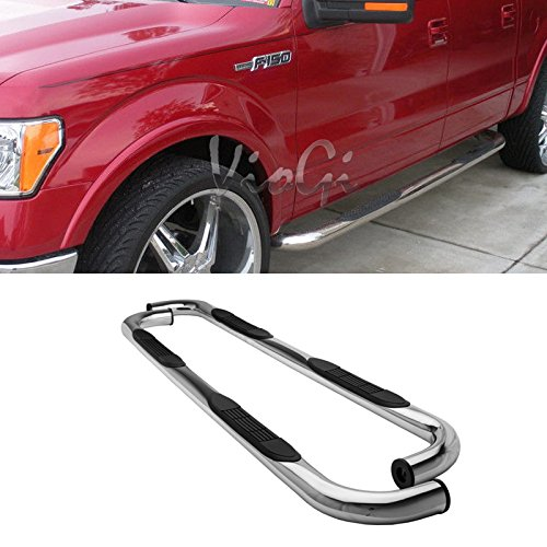 AutoCat Side Step Nerf Bar Running Boards For 09-14 Ford F-150 F150 Super Crew Cab (With 4 full size doors) 3