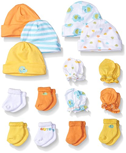 Gerber Baby 15 Piece Accessories Bundle, Elephant, New Born