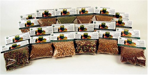 12 Lbs. Sprouting Seed Assortment - 1 Lb Ea. of Organic Sprout Seeds - Alfalfa, Radish, Clover, Lentil, Mung Bean, Garbonzo Beans, Green Pea, Bean Salad Mix, Protein Powerhouse Mix & More.