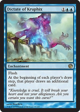 Magic: the Gathering - Dictate of Kruphix (37/165) - Journey into Nyx - 1