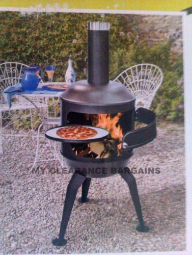 NEW CHIMENEA PIZZA OVEN REAL STONE OUTDOOR COOKER BBQ. FIREPIT PATIO HEATER