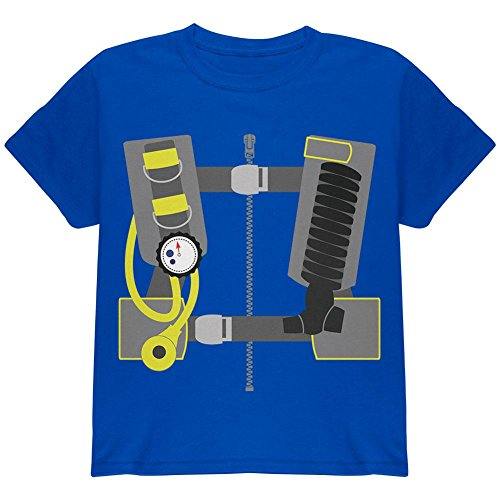 [Halloween - Scuba Diver Costume Youth T Shirt Royal YLG] (Scuba Diver Costumes)
