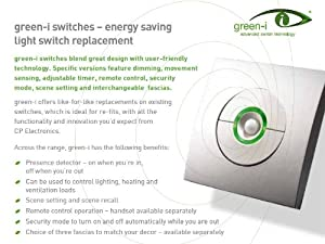 Dimmer 1 Gang - Energy Saving with Motion Detector and Remote Control