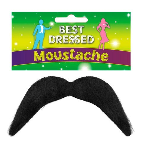 Henbrandt Men's Fake Moustache - Disco, 118, Mexican, Mario - Fancy Dress Accessory