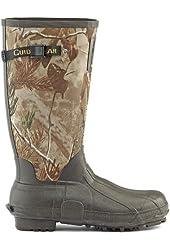 Guide Gear Men's 15 inch Rubber Boots 800 Gram Thinsulate Ultra Realtree AP Camo