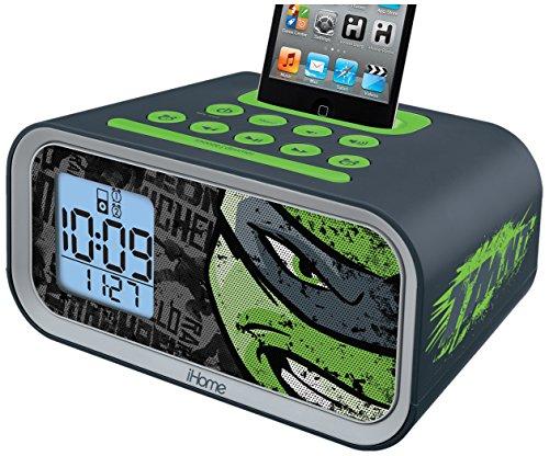 Teenage Mutant Ninja Turtles Dual Alarm Clock Speaker System (TM-H22) (Ipod For Kids compare prices)