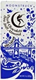 Moonstruck Chocolate Dark Chocolate Bar, Almond Sea Salt, 3 Ounce ( Pack of 3)