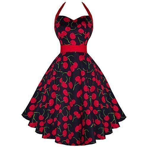 Hearts & Roses London Black Cherry Rockabilly Vintage 50s