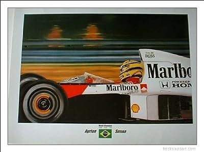 Ayrton Senna Formula One Racing Print
