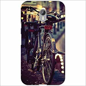 Moto G (3rd Generation) Cycles - Silicon Phone Cover