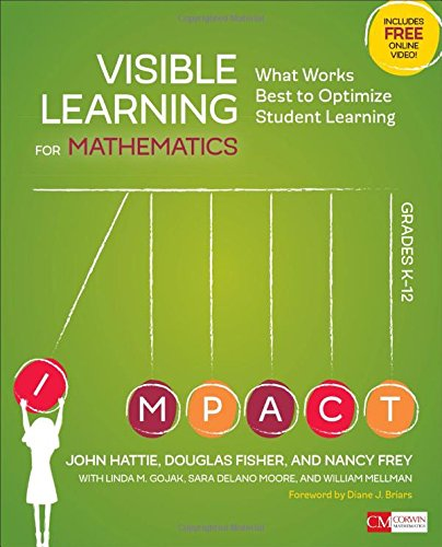 Visible Learning for Mathematics, Grades K-12: What Works Best to Optimize Student Learning (Corwin Mathematics Series) (Douglas Fisher And Nancy Frey compare prices)