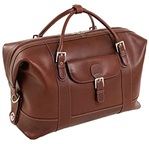 Siamod 25084 Amore Oil Pull-Up Leather Duffel Bag (Cognac)