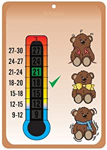 Baby Bears Nursery & Room Safety Temperature Thermometer