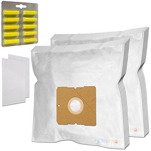 SET 10 Staubsaugerbeutel / Staubbeutel / Filtertüten + 10 Duft geeignet für AEG / Electrolux 3, 6, AE 2000, 300 bis 399 Smart, 3460 Ingenio, AE 3455 / AE3455
