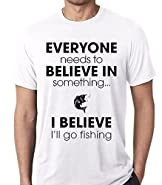 Raw T-Shirt's I Believe I Will Go Fishing - Funny Fisshing Premium Men's T-Shirt