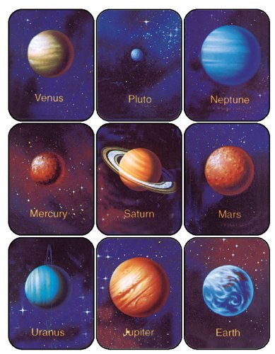 Eureka Planets Stickers