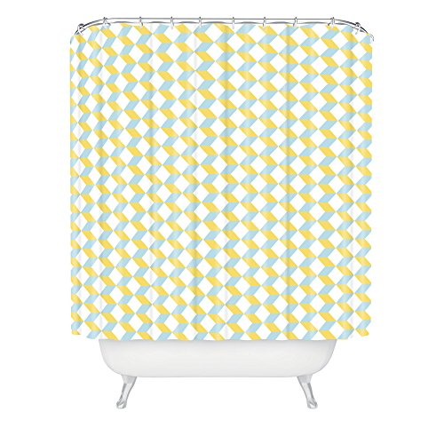 Deny Designs Hello Twiggs Green Lime Tile Shower Curtain front-387705