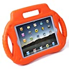HDE Kids Shock Proof Steering Wheel Case with Stand for iPad Mini / Mini 2 / Mini 3 / Retina (Orange)