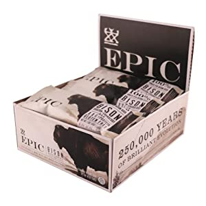 Epic All Natural Meat Bar, 100% Grass Fed, Bison, Bacon and Cranberry, 1.5 ounce bar, 12 count